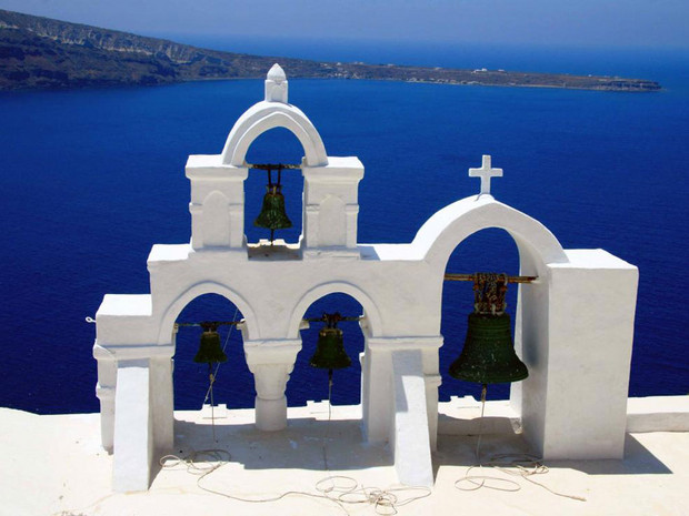 Clocher-SANTORIN CYCLADES GRECE