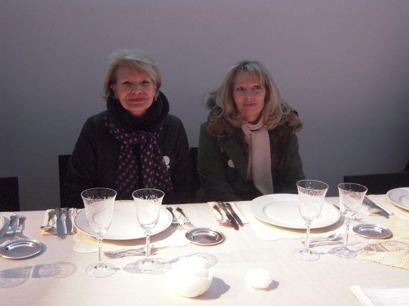 Corinne odile Cadavre Exquis à la table de Lia Lapithi Musée Granet le 12 01 2013